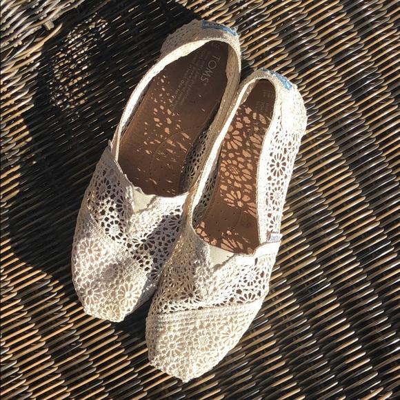 Toms Shoes | Ivory Lace | Poshmark